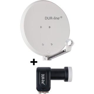 DUR-line DSA 40 + DUR-line Quad LNB - 4 Teilnehmer Set