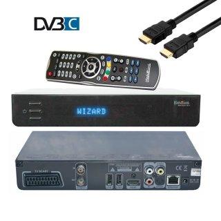 Medialink Black Panther Kabel Receiver DVB-C 1080p 1x CI+ 1xCX LAN,Scart, Schwarz