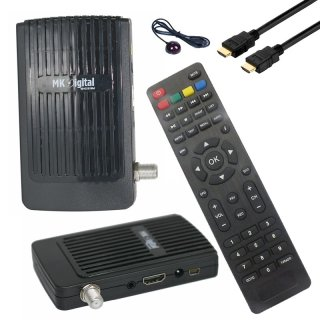 MK Digital HD-62se Mini 1080p FULL HD Sat Receiver HDMI, EPG USB Mediaplayer Astra-Hotbird-Türksat vorprogrammiert