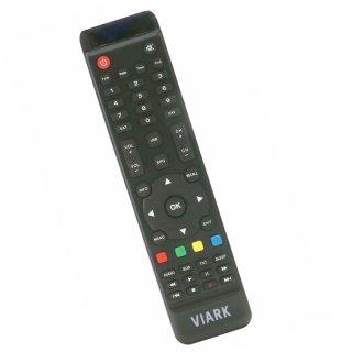 Original Viark Fernbedienung für Vuga / Viark Receiver, Schwarz