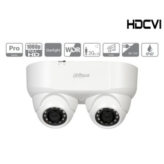 Dahua Überwachungskamera - HAC-HDW2241MP-E2-0280B - HDCVI - Eyeball