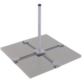 DUR-line Herkules 4Platten Balkonständer 4 x50x50cm Feuerverzinkt - 4-Plattenständer