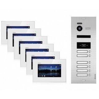 Video Türsprechanlage BALTER EVO 2-Draht BUS für 6-Familienhaus mit RFID-Funktion