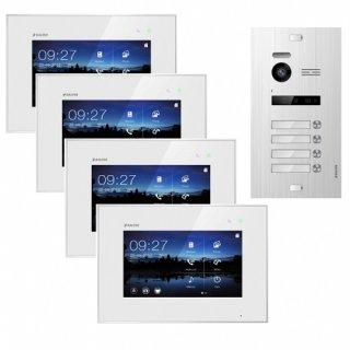 """Balter EVO SILVER Video-Türsprechanlage 7"""" Touchscreen 2-Draht BUS Komplettsystem für 4 Teilnehmer"""