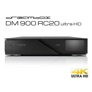 Dreambox DM900 RC20 UHD 4K 1x Dual DVB-C/T2 Tuner E2 Linux PVR ready Receiver
