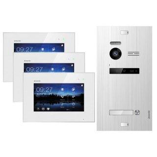"""Balter EVO SILVER Video-Türsprechanlage 3x7"""" Touchscreen 2-Draht BUS Komplettsystem für 1 Teilnehmer"""