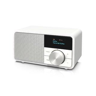 Kathrein DAB+ 1 mini weiss DAB+/FM Radio Echtholzgehäus-e weiß lackiert mit Bluetooth