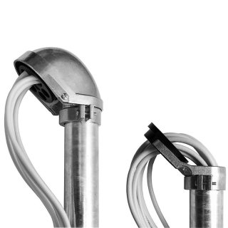 PremiumX SAT Aluminium Mastkappe für Masten 48-52mm mit Kabeleinführung