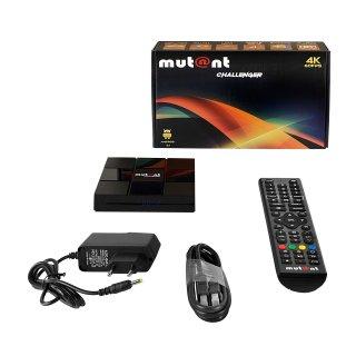 Mutant Challenger 4K UHD 60FPS Android 8.1 Mediaplayer WLAN Internet TV IP Receiver Schwarz
