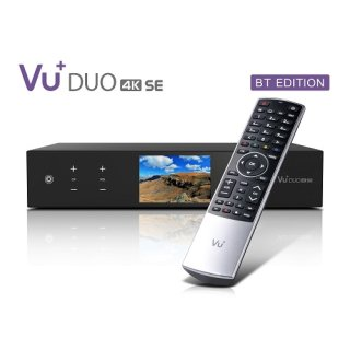 VU+ Duo 4K SE BT 1x DVB-T2 Dual Tuner PVR Linux Receiver UHD 2160p