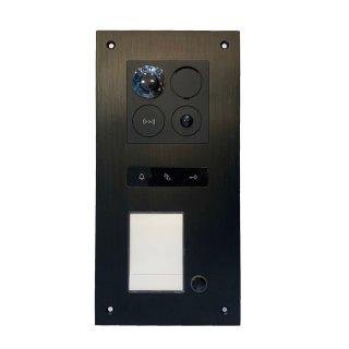 BALTER ERA Black RFID 2-Draht BUS IP Türstation für 1 Teilnehmer 180° Ultra-Weitwinkelobjektiv