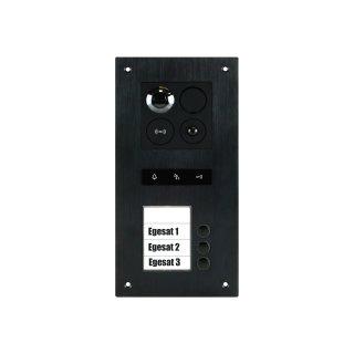 BALTER ERA Black RFID 2-Draht BUS IP Türstation für 3 Teilnehmer 180° Ultra-Weitwinkelobjektiv