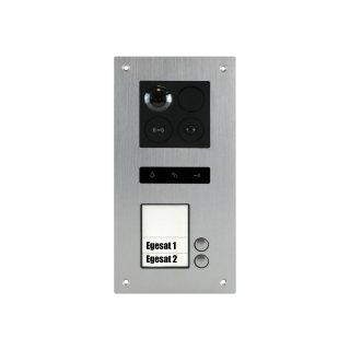 BALTER ERA Silber RFID 2-Draht BUS IP Türstation für 2 Teilnehmer 180° Ultra-Weitwinkelobjektiv