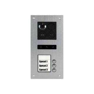 BALTER ERA Silber RFID 2-Draht BUS IP Türstation für 3 Teilnehmer 180° Ultra-Weitwinkelobjektiv