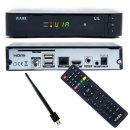 Viark LIL Full HD Sat H.265 HEVC Sat Receiver DVB-S2 1080p,LAN, WLAN ,Schwarz