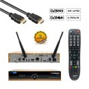 Octagon SF8008 Limited Gold Edition 4K UHD E2 Linux 1xDVB-S2X, 1xDVB-C/T2 (Dual OS) Combo Receiver