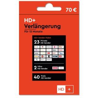 HD+ Plus Verlängerung für 12 Monate für alle HD+ Karten HD01/02/03/04/05 geeignet