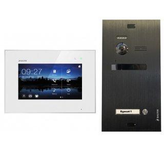 """Balter EVO Schwarz Video-Türsprechanlage 7"""" Touchscreen 2-Draht BUS Komplettsystem für 1 Teilnehmer"""
