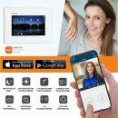 """Balter EVO Schwarz Video-Türsprechanlage 7"""" Wifi Monitor 2-Draht BUS für 1 Familienhaus App Steuerung"""