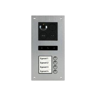 BALTER ERA Silber RFID 2-Draht BUS IP Türstation für 4 Teilnehmer 180° Ultra-Weitwinkelobjektiv