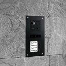 """BALTER ERA Schwarz RFID 2-Draht BUS IP 7"""" WiFi Video Türstation iOS Android App für 4 Teilnehmer"""