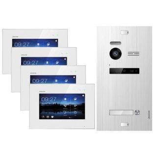 """Balter EVO SILVER Video-Türsprechanlage 4x7"""" Touchscreen 2-Draht BUS Komplettsystem für 1 Teilnehmer"""