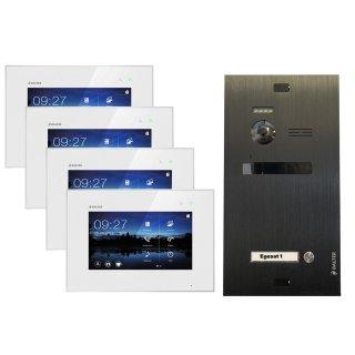 """Balter EVO Schwarz Video-Türsprechanlage 4x7"""" Touchscreen 2-Draht BUS Komplettsystem für 1 Teilnehmer"""