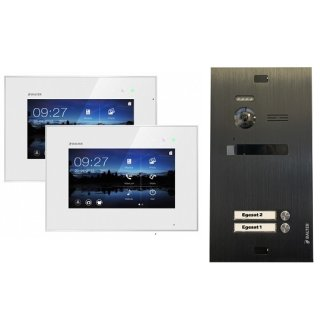 """Balter EVO Schwarz Video-Türsprechanlage 7"""" Touchscreen 2-Draht BUS Komplettsystem für 2 Teilnehmer"""