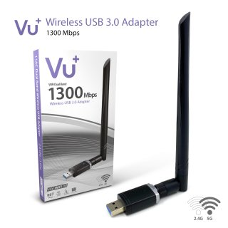 VU+ Dual Band Wireless USB 3.0 Adapter 1300 Mbps inkl. 6 dBI Antenne