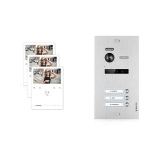 Balter EVO Silber Video Türsprechanlage Quick Monitor 2-Draht BUS Komplettsystem für 3 Teilnehmer