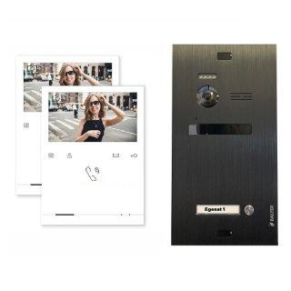 Balter EVO Schwarz Video-Türsprechanlage 2x Quick Monitor 2-Draht BUS Komplettsystem
