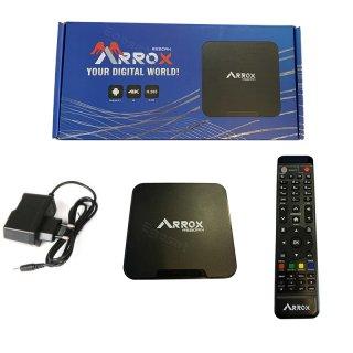 Arrox Reborn 4K UHD Android 9.1-IP-Receiver WiFi Schwarz