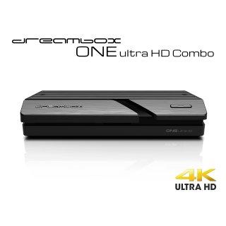 Dreambox One Combo Ultra HD BT Edition 1x DVB-S2X MS / 1x C/T2 Tuner 4K 2160p E2 Linux Dual Wifi H.265 HEVC
