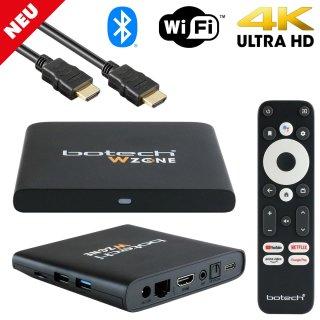 Gigablue Botech WZone Android TV Mediaplayer (4K UHD, HDR, 5GHz WiFi, Dolby, Sprachfernbedienung)