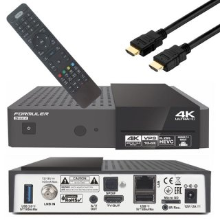 Formuler S Mini 4K Ultra HD Satellite- IPTV Receiver Android 7.0 UHD 2160,Intern Wlan