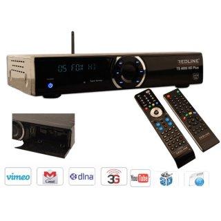 BWARE Redline TS 4000 HD Plus Sat Receiver IPTV Wifi Youtube CA Full HD