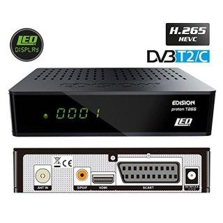 Edision Proton T265 LED FullHD DVB-T2/C H.265 HEVC Hybrid FTA Receiver