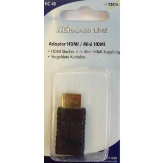 Heitech Adapter Verbindung von Mini HDMI auf HDMI