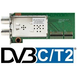 Dual Hybrid Tuner für Octagon SF 4008 DVB-C DVB-T2 4K UHD
