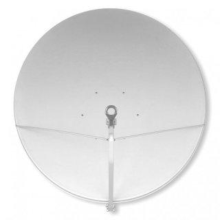 150 cm Gibertini Alu Sat Antenne Weiss Offset Spiegel OP 1,50 m