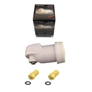 Single LNB Opticum Orton LSP-02G Universal Digital 0,1 dB + 2x F-Stecker 7mm vergoldet