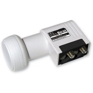 LNB Twin Best 0,1 dB HD HDTV ready HQDL 202 MF 60 dB
