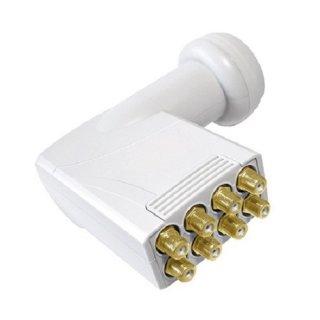 Octo LNB Smart Titanium TO 0,1 dB Gold Switch 8 Teiln. HD 3D HDTV