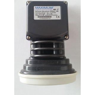 Maximum Monoblock Single MB3 0,2 dB LNB 3 Grad für 19° Astra 16° Eutelsat