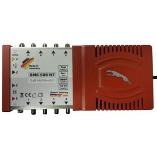Bauckhage BMS 508 NT Multischalter 5/8 4K HD 3D für 8 Teilnehmer