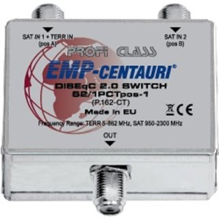 EMP Centauri DiseqC & Optionsschalter S2/1PCTpos-1 (P.162-CT)