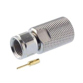 F-Stecker 10 mm Extra-Gross für Erdkabel aus Messing