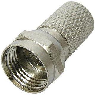 F-Stecker 6,5 mm mit 1 Ring für 90 dB Koax Kabel