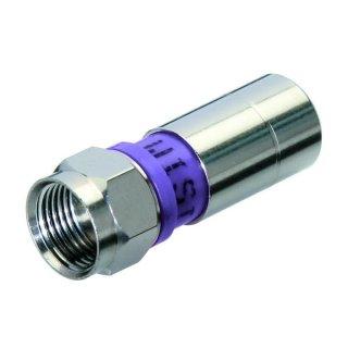 F-Stecker Wisi F-Compress-Stecker DV 10 100 Stück