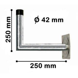 Wandhalter Stahl 25 cm Abstand 42 mm dick Feuerverzinkt